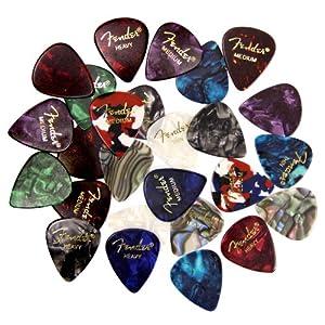 Fender Premium Picks Sampler - 24 Pack Includes Thin, Medium & Heavy Gauges