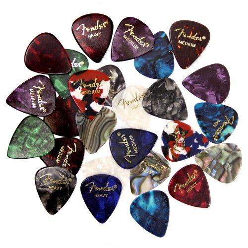 Fender Premium Picks Sampler - 24 Pack Includes Thin, Medium & Heavy Gauges images