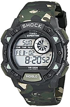 59309496fbc6 Timex Men s T499769J Expedition Digital Watch with Camouflage Strap