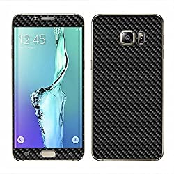 Exclusive Full Body Black Color Carbon Fiber Vinyl Mobile Skin Sticker For Samsung Galaxy S6