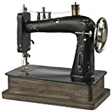 Sterling 51-10039 Metal Antique Replica Sewing Machine Decorative Accessory, Barret Bronze/Black