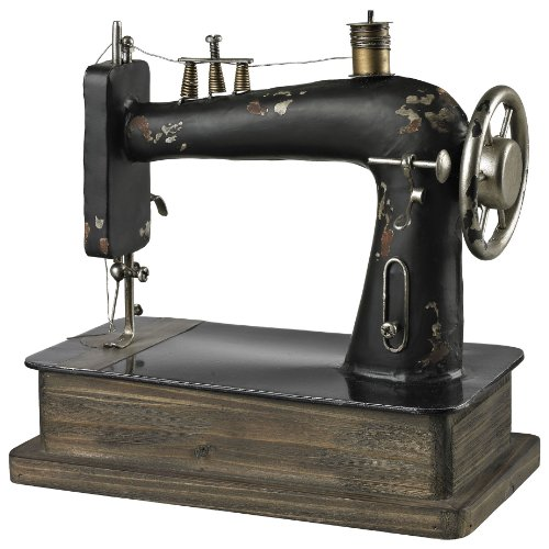 Sterling 51-10039 Metal Antique Replica Sewing Machine Decorative Accessory, Barret Bronze/Black