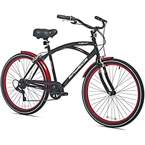 Speed Aluminum Frame Cruiser Bike for Men, Black : Sports & Outdoors