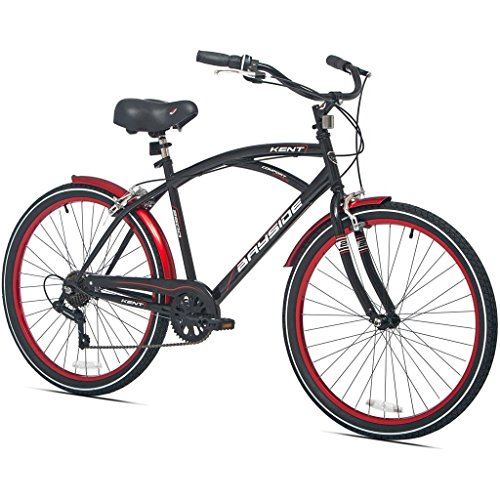 26-Inch-Kent-Bicycles-7-Speed-Aluminum-Frame-Cruiser-Bike-for-Men-Black