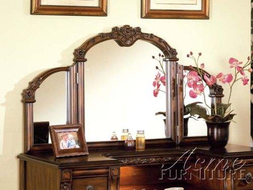 Dark Oak Finish Wood Vanity Set by Acme Furniture 1