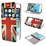 ivencase View Window Painting Art Retro UK Flag Design PU Leather Flip Protective Skin Stand Case Cover for Apple iPhone 6 Plus 55 inches
