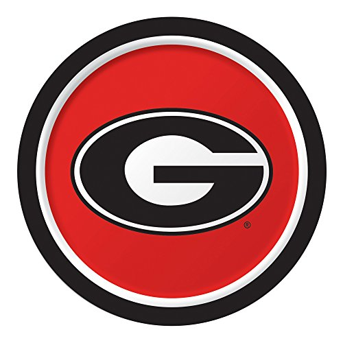 Creative Converting 8 Count Sturdy Style University of Georgia Paper Plates (Dinner Size), 8.75