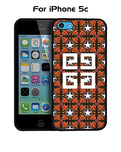 Givenchy Iphone 5c Custodia Case, Brand Logo Protection Unique Pattern Rugged Drop Resistant Hard Plastic Vintage Fit for Iphone 5c