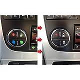 AC Dash Button Repair Kit For GM, Tahoe, Suburban, Avalanche, Silverado, Yukon, Denali, Acadia, Sierra, Saturn Outlook, Buick Enclave - Fix damaged A/C Controls For General Motors SUV Trucks