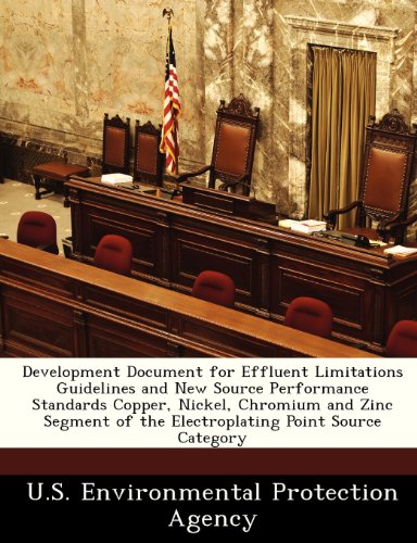 Development Document for Effluent Limitations Guidelines and New Source Performance Standards Copper, Nickel, Chromium and Zinc Segment of the Electroplating Point Source Category