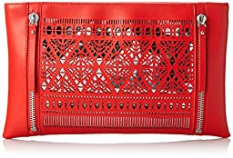 Vince Camuto Lila Clutch, Poppy Red, One Size