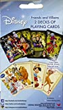 DISNEY FRIENDS AND VILLAINS 2 DECKS OF PLAYING CARDS