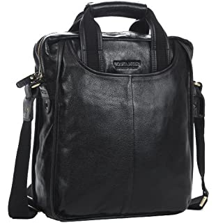 Zicac Mens Leather Shoulder Bag Handbags Briefcase For The Office Messenger Bag 32