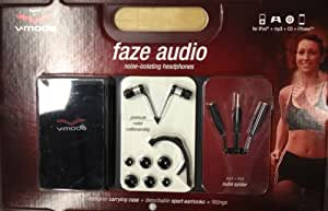 """V-Moda CC-FZAU-NERO 24k gold-plated, 3.5mm (1/8"""") stereo plug Connector In-Ear Noise-Isolating Metal Headphones"""