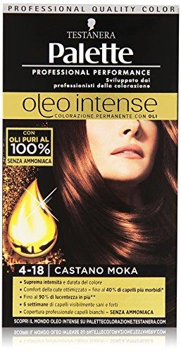 Testanera - Palette, Colorazione Permanente con Oli, 4-18 Castano Moka