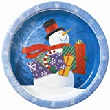 8x Snowman Gifts Party Paper Plates/ Christmas Dinner