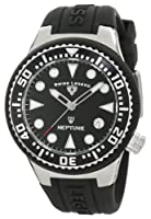 Swiss Legend Women's 11044D-01 Neptune Black Dial Black Silicone Watch by Swiss Legend