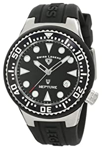Swiss Legend Watch Neptune (44 mm) Black Dial Black Silicone