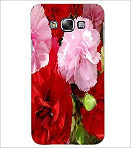 PrintDhaba Flowers D-2400 Back Case Cover for SAMSUNG GALAXY E7 (Multi-Coloured)