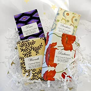 Organic Soap Gift Set - Citrus & Lavender Scents by Angel Face Botanicals