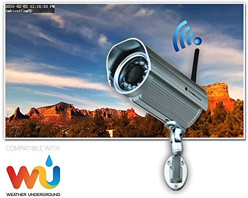 Ambient Weather AmbientCamHD Outdoor WiFi WeatherCam with Free Wunderground Hosting Services