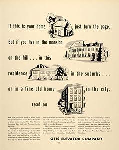 1937 Ad Otis Elevator Escalator Builder Architecture - Original Print Ad