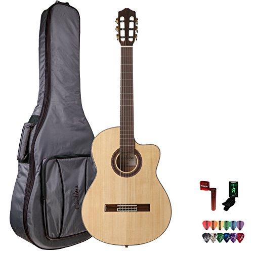 Cordoba Gk Studio Acoustic Guitar With Cordoba Gig Bag, Chromacast String Winder, 12 Pick Sampler And Tuner