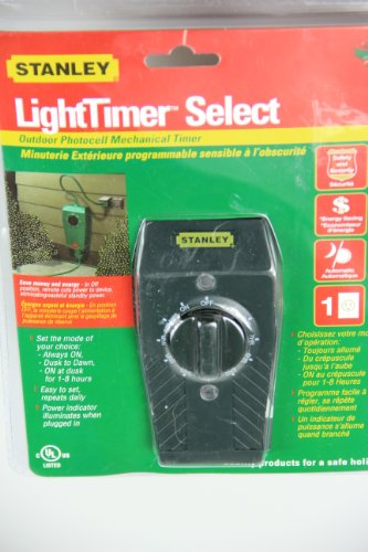 LightTimer Select Outdoor Photocell Mechanical Timer for Christmas Light