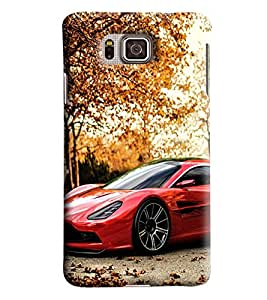 Blue Throat Sports Car In Red Printed Desginer Back Cover/Case For Samsung Galaxy Alpha
