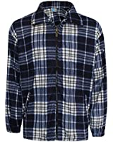 NEW MENS LUMBER JACK FLANNEL WORK SHIRT JACKET WINTER WARM CHECK TOP SIZE M-4XL