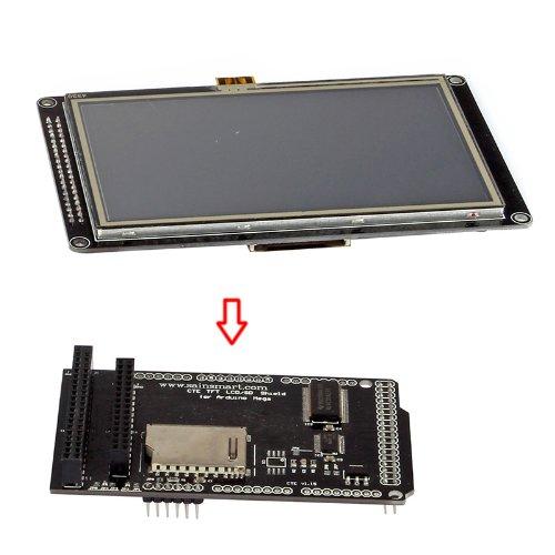 "Sainsmart 4.3"" Inch Tft Lcd Display For Arduino Due Mega 2560 Uno R3 (4""3 Lcd + Mega Tft/Sd Shield)"