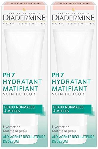 Diadermine - Crema Idratante Giorno PH7 Matte - 50 ml pacchetto di 2