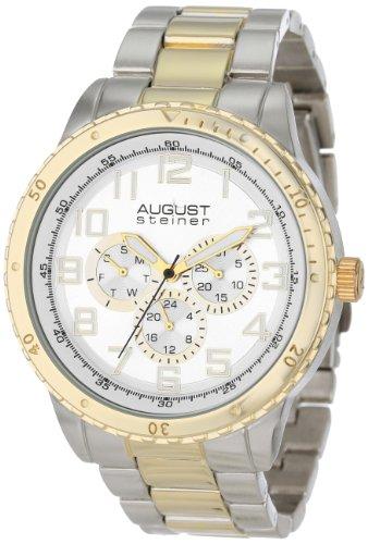 August Steiner Men's 45mm Multicolor Metal Metal Case Quartz Watch AS8060TTG