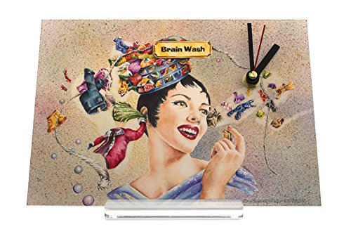 desk-clock-fun-rative-brainwashing-woman-head-thoughts-clothesline-retro-decoration