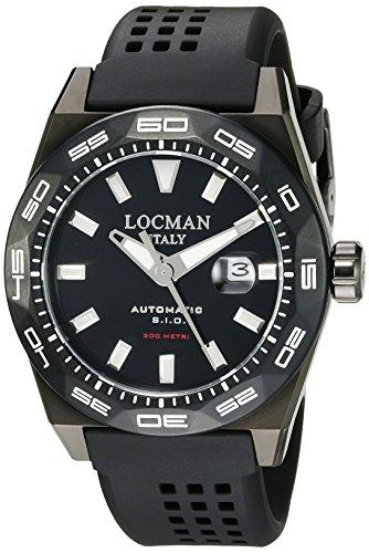 Locman Italy hombre 0215V4-KKCKNKS2K Stealth 300metri analógico automático para hombre negro reloj