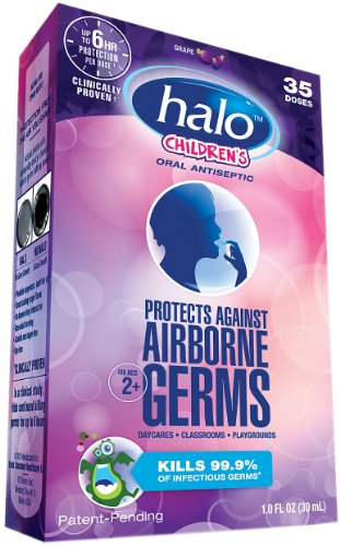 Halo Halo Oral Spray Childrens Dose, Grape, 1 Ounce.