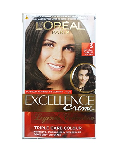 L'Oreal Paris L'Oreal Paris Darkest Brown Hair Color, 72ml+100gm
