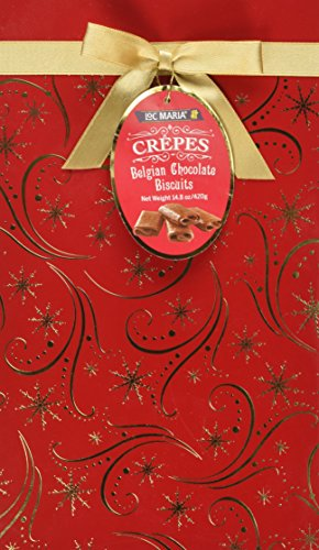 Loc Maria Crepes Belgian Chocolate Biscuits 14.8 Oz (Gift wrap may vary) (Chocolate Biscuits compare prices)