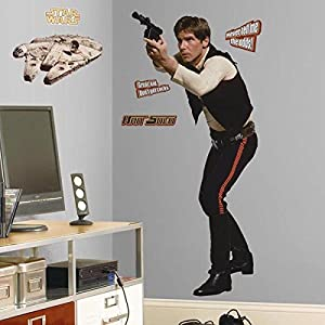 roommates quot han solo quot giant wall sticker amazon co uk