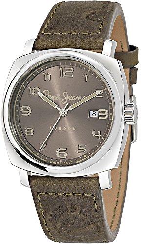 Pepe Jeans Howard reloj de cuarzo de los hombres con color marrón esfera analógica y correa de piel color marrón R2351111004