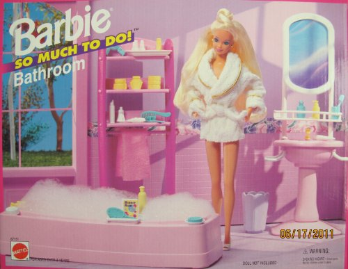 Barbie So Much To Do Bathroom Playset (1995 Arcotoys, Mattel) front-1025045