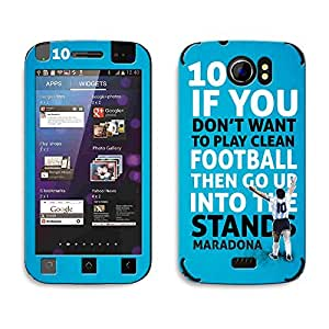 Bluegape Micromax Canvas 2 A110 Diego Maradona Football Player Phone Skin Cover, Blue