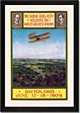 Framed Art Poster 20x30, Dayton, Ohio Welcomes the Wright Brothers