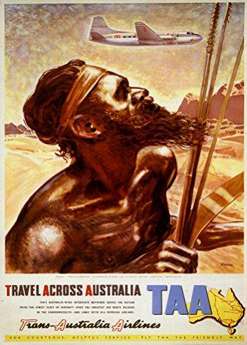 en-australia-con-de-viaje-vintage-trans-australian-airlines-taa-reproduccion-de-aviacion-poster-en-2