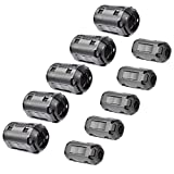 Bluecell Pack of 10 Magnetic Ferrite Core Cord RFI EMI Noise Suppressor Cable Clip (5mm+13mm inner diameter) by Bluecell World