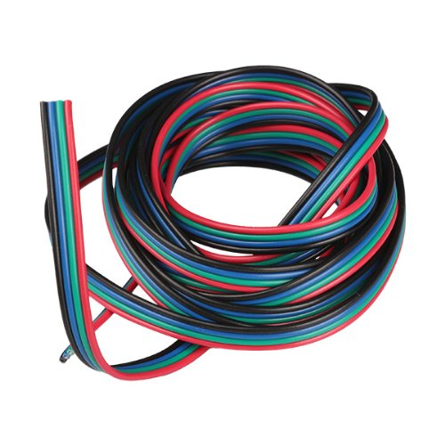Generic Flexible 3 Meter 4-Pin Extension Connector Cable Cord For 3528 5050 RGB LED Strip
