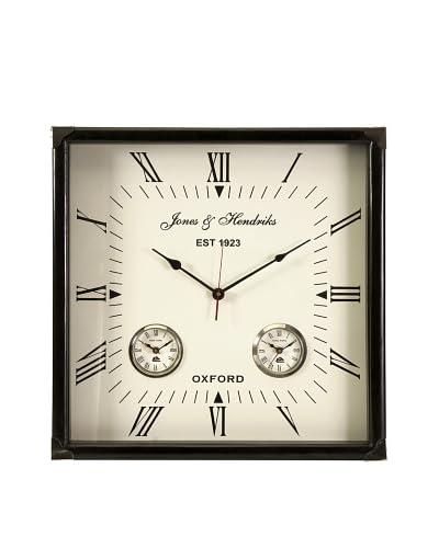 Old World Estate Worldtimer Wall Clock