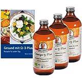 3 x Omega-3-Plus Öl, Bio, 500 ml (je 25,40€) + Rezeptbuch: Gesund mit Omega-3-Plus (gratis)