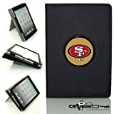New SLEEP SMART Apple iPad Air (5th Gen) Ipad 5 leather Case By Calaboy- Interchangeable Design - Personalized Picture Frame w San Fransico 49ers Logo (FB4) at Amazon.com
