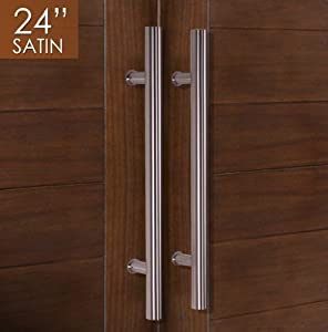 Amazon Com Pull Push 24 Quot Handles For Entrance Entry Front